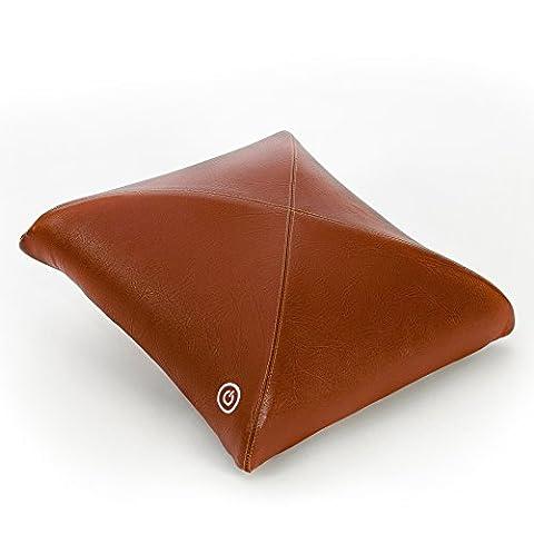 Zyllion ZMA-20 Luxury Shiatsu V-Spring Massager Pillow with Heat (Brown)- One Year Warranty