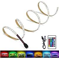 LED TV Hintergrundbeleuchtung,LED Fernseher Beleuchtung USB RGB 2M/6.56ft,Pomisty LED Stripes Streifen LED Band mit 24 keys Fernsteuerungs für 40 bis 60 Zoll HDTV,TV-Bildschirm und PC-Monitor