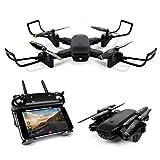 LBLA Faltbar Drohne mit 2 Kamera HD 720P Quadcopter Erkennungsgeste FPV WiFi 2.4GHz 6-Achsen-Gyro RC Helikopter für Anfänger und Kinder Schwarz