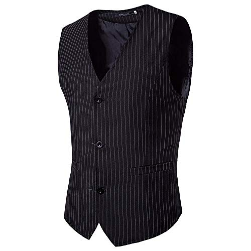 ren Weste Anzugweste Casual Business stilvoll Vest Formal Slim Fit Retro Blazer ()