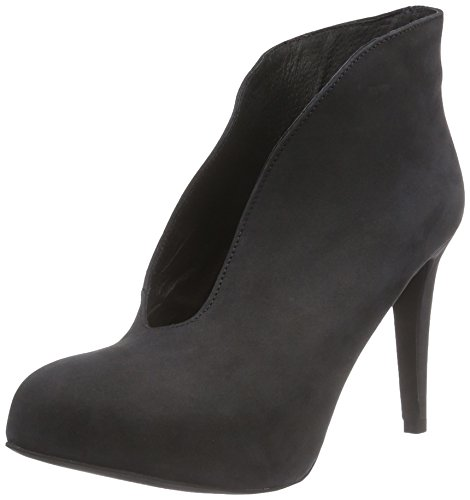 Mentore Mentore Pompa Per Caviglia, Signore Dritto Attraverso Pompe A Pedale Nere (nero Nabuk)