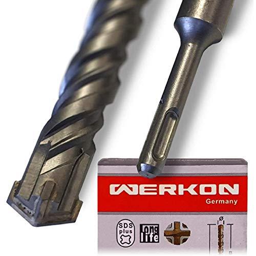 SDS Plus Bohrer 40mm Ø - Lang 40x460 mm - Ideal zum schnellen Bohren in Beton - Hochwertige Hartmetall Spitze - Kein Einhacken in Armierungseisen 40x460mm