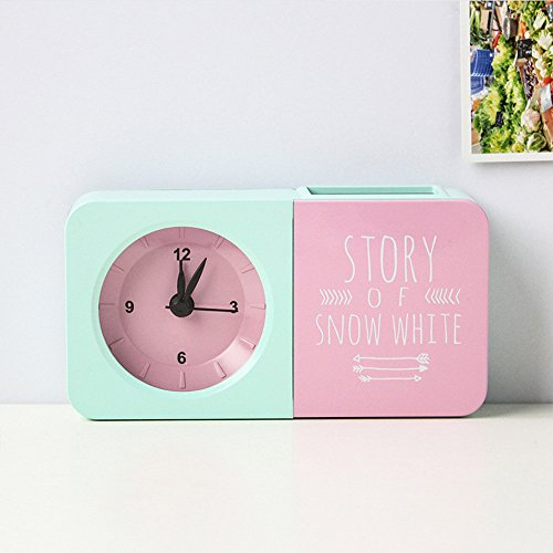 HZF-Penholder, reloj alarma, Creative portalápices, color, reloj con alarma despertador niñas,UN,Temporizador despertador
