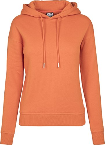 Urban Classics Damen Kapuzenpullover Ladies Hoodie, Orange (Rust Orange 01150), X-Small Orange Womens Raglan Hoodie