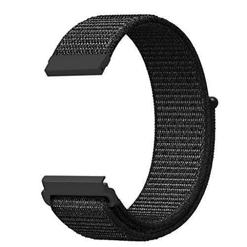 OverDose Boutique Unisex Ersatz Armband Sportarmband und Fitnessband Replacement Nylon Sport Loop Wrist Band Strap Kompatibel für Huami Amazfit Bip Youth Watch - 22mm Nylon-loop-uhr-band