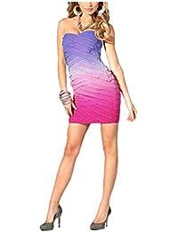 Lipsy Women's Crop Top Opaque Dress Pink Pink-Lila