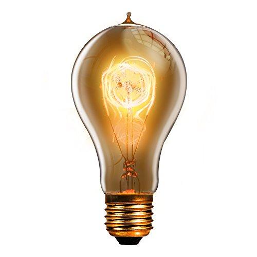 Trellonics - langlebige und hochwertige Edison-Glühbirne, Lampe mit 40 Watt, E27, Schraubgewinde, klassisch geformte A21, QL, dimmbar, Vintage, Retro, rustikal, 40W 120V -