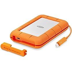 LaCie Rugged Thunderbolt USB-C 5To, disque dur externe mobile - STFS5000800 (1x Thunderbolt, 1X USB-C)