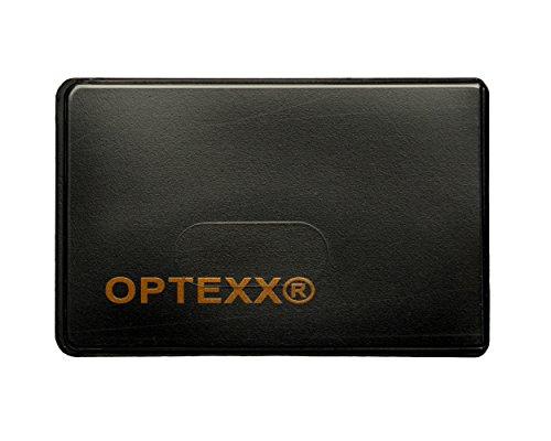 OPTEXX® 3x RFID-Schutzhülle Felix für Kreditkarte | EC-Karte | Personal-Ausweis aus Hart-Plastik-Hülle sicheres Blocking von Funk Chips