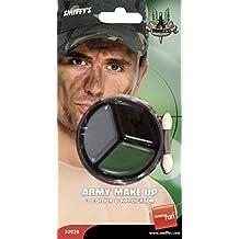 Smiffys 30928 Déguisement Maquillage Militaire, Camouflage, Taille Unique