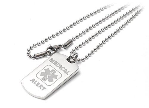 Personalizzato avviso medico i-c-e/SOS Dog tag collana/pendente-inciso