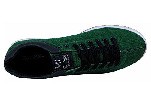 Toni Ellen Python Jeansschuhe Chaussures Décontractées Denim Femmes Chaussures Baskets Homme Sélection Vert