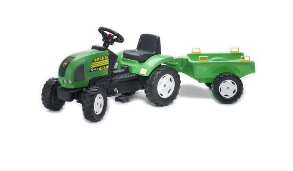 Klettergerüst Traktor : Falk traktor und anhänger grün : amazon.de: spielzeug