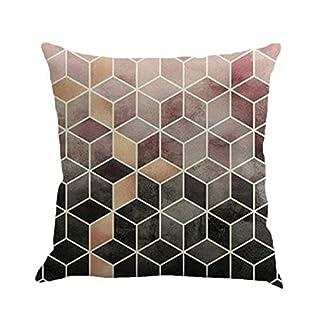 Goosuny Bunte Kissenhüllen 45 X 45 Cm Geometrie Malerei Leinen Kissenbezug  Quadrat Sofa Kissen Cover Kuschelig