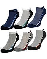sockenkauf24 - Herren Sneaker Socken Baumwolle 6 oder 12 Paar Herrensocken Sportsocken - 16481