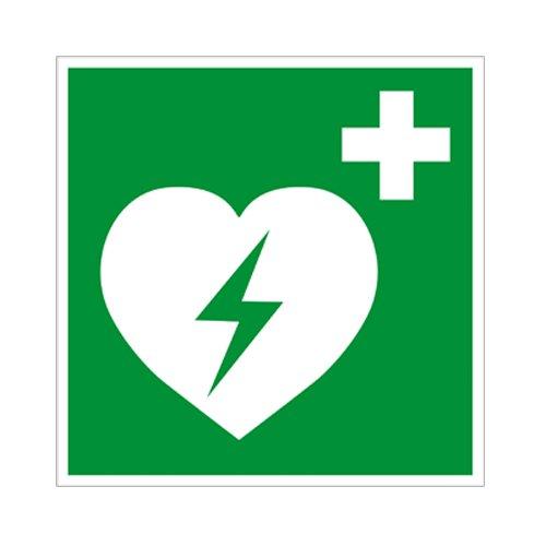 Defibrillator Kunststoff 150x150mm - Herz-defibrillator