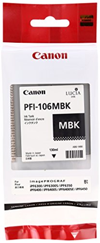 Canon 6620B001 Tintenpatrone PFI-106MBK, matt schwarz