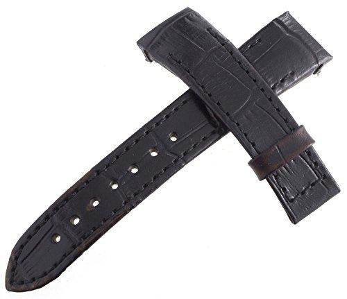 Armaan Uhrenarmband schwarz Echt Leder 19mm x 16mm