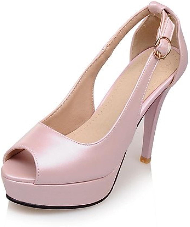 ZQ de las mujeres zapatos de cuero de vaca / cuero botas / botas de gladiador / comodidad / de combate / Novedad...