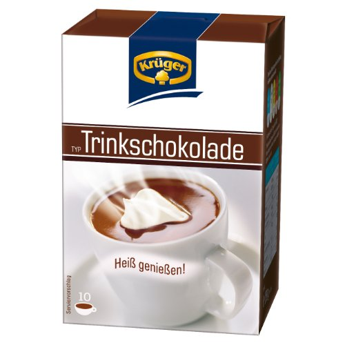 Krüger Trinkschokolade, Getränkepulver, Kakao, 10 Portionsbeutel á 25g, 250g