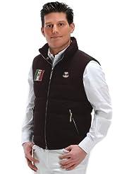 USG United Sportproducts Steppweste Billy - Chaleco de hípica para hombre, color marrón, talla 52 (XL)