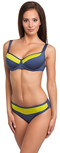 Merry Style Coordinati da Bikini per Donna Modello: CWL 11/SV Jeans/Limone