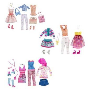 Barbie Sweet Moden 3 Outfits