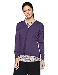 Monte Carlo Womens Synthetic Cardigan (1172738VN-9076_Dark Blue_40)