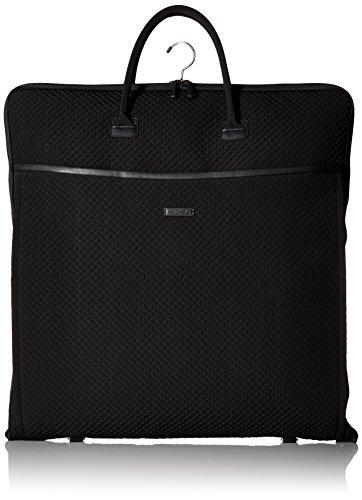 Vera Bradley Damen Iconic Garment Bag, Microfiber Kultiger Kleidersack, Mikrofaser, Classic Black, Einheitsgröße
