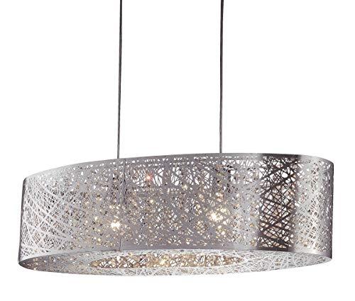 miaVILLA Deckenleuchte Grate - Pendelleuchte - Metall Glaskristalle - 2 x E27 max. 60W