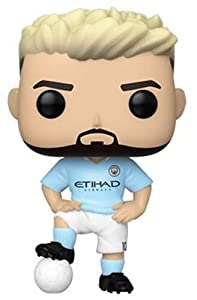 Funko Pop Figura De Vinil Football: Manchester City-Sergio Agüero Coleccionable, Multicolor (42789)