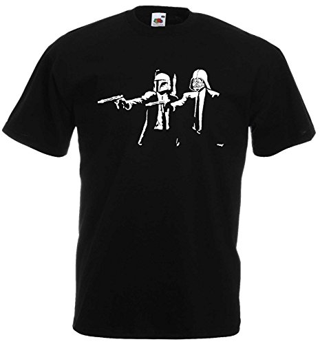 Star Wars Herren T-Shirt Travolta & Jackson Fun Pulp Fiction ShirtL