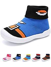 2b22848ed7f74 YUHUAWYH Bebé Muchachos Chicas Calzado Antideslizante Calcetines Zapatos  para niños pequeños Caminante Calcetines para niños de