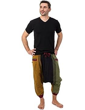 Fantazia-saroual babacool-Pantalón pirata para hombre ligera Jayjay algodón, diseño de Rasta