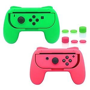 FASTSNAIL Griffe für Nintendo Switch Joy-Con, verschleißfestes Griff-Set für Switch Joy Cons Controller, mit 3 Paar…
