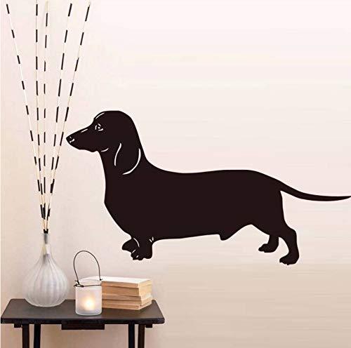 Dalxsh Beliebteste Dackel Hund Wandaufkleber Für Kinderzimmer Vinyl Abnehmbare Tier Tapete Aufkleber Dekoration Zubehör58X31 Cm