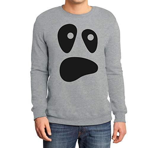alloween Ghost Kostüme Herren Pullover Sweatshirt XX-Large Grau ()