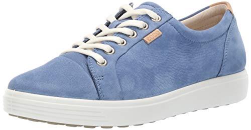 Damen-retro-sneaker (Ecco Damen Soft 7 Sneaker, Blau (Retro Blue 1471), 40 EU)
