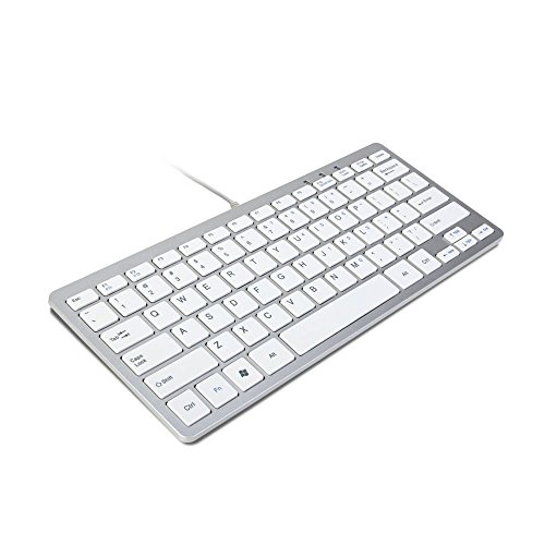 trixes-minimal-slim-mini-wired-usb-keyboard-silver-white