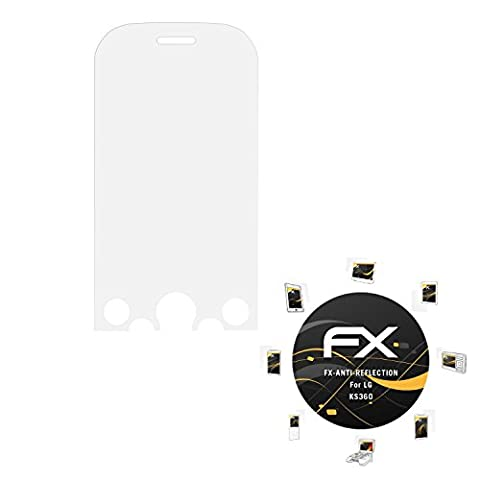 LG KS360 Displayschutzfolie - 3 x atFoliX FX-Antireflex blendfreie Folie Schutzfolie