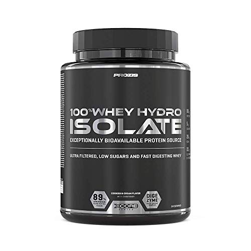 Prozis 100% Whey Hydro Isolate SS Proteine, 2000 g, Biscotto e Crema