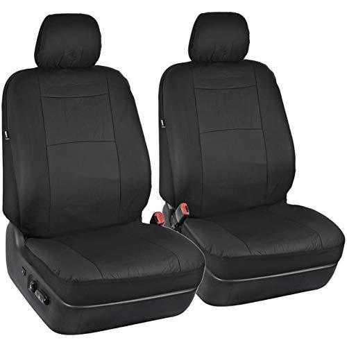 EdBerk74 Synthetic Pu Leather Fit Für Niedrige Schalensitze Mit Separaten Kopfstützen Sitzbezüge Für Auto Suv Auto Lenkradbezug