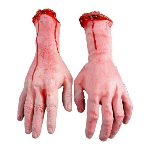 Von Kostüm Bild Medusa - LEUM SHOP Vivid Human Arm simulationHand Bloody Dead Body Parts Haunted House Halloween Stage Props