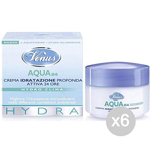 Set 6 VENUS Aqua Cream 24 Heures Cream Entretien Et Nettoyage Du Visage Deep