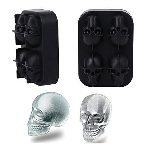 (cuigu 3d-Eiswürfelform, Silikon, für Halloween-Party-Dekoration,)
