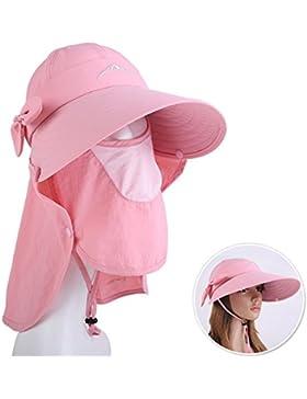 JIANFEI sombrero de playa ala Ancha sombreros protección solar Impermeable Proteccion Solar Protección Facial...
