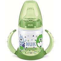 NUK First Choice Botella Aprendizaje azul con boquilla blanda de silicona, 6-18 meses, libre de BPA, 150 ml