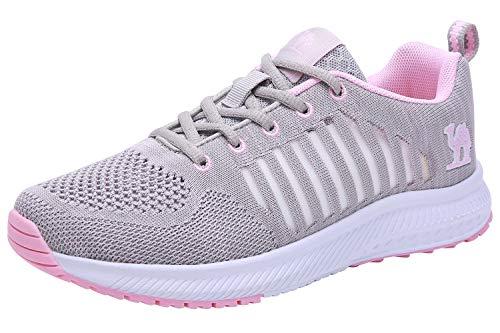 CAMEL CROWN Laufschuhe Damen Leichte Bequeme Tennisschuhe Atmungsaktive Wanderschuhe Lässige rutschfeste Sportschuhe Gym Jogging Athletic