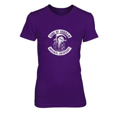 Sons of Arkham - Damen T-Shirt, Größe: XL, Farbe: lila