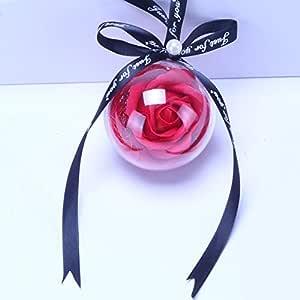 Alger Auto Schmuck Anh/änger Kristall Rose Getrocknete Blume Probe Auto R/ückspiegel Trim Dekoration Zubeh/ör Handgemachte Halskette Geschenk purple